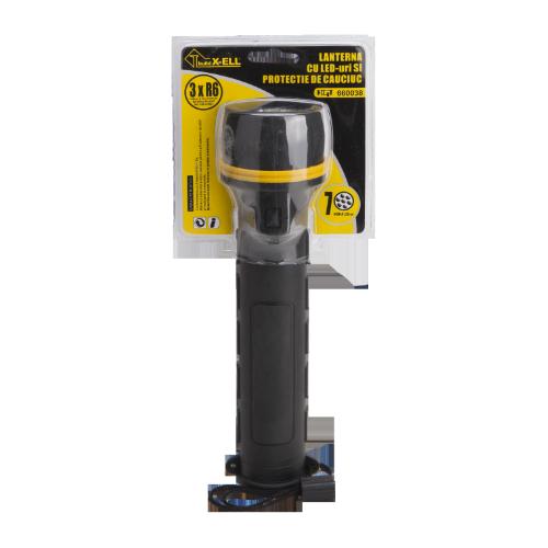Lanterna 7 Led-uri Cu Protectie De Cauciuc Ets 660038 Honest