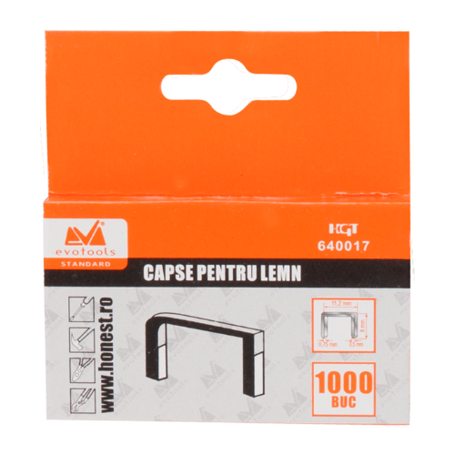 Capse Lemn 12mm*1.2mm Ets 640087 Honest