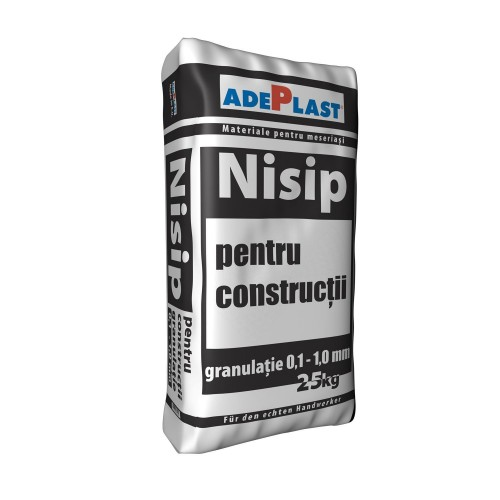 Nisip Pentru Constructii 25 Kg Adeplast