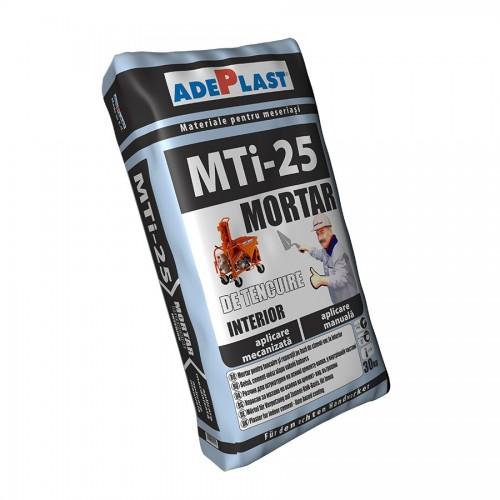 Mortar De Tencuiala Mti25 Pentru Aplicare La Interior Manual Sau Mecanizat 30 Kg Adeplast
