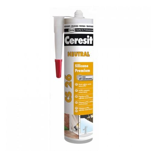 silicon Ceresit Neutral 300ml Transparent Cs26 Premium Henkel