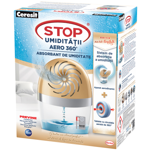 Aparat Absorbant De Umiditate 450g Aero Gold/humidity Absorber Alb Ceresit Henkel