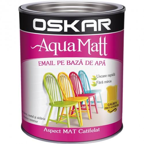 Acrilic Email Matt Aqua Galben Pret-a-porte 0.6 L Oskar