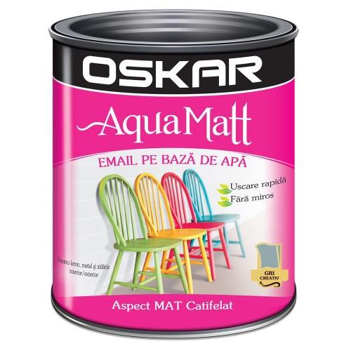 Acrilic Email Matt Aqua Gri Creativ 0.6 L Oskar