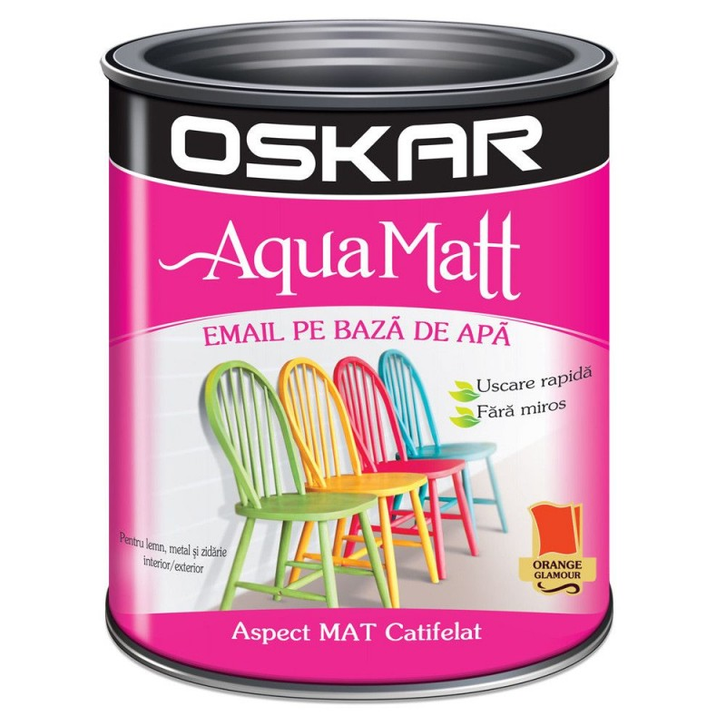 Acrilic Email Matt Aqua Orange Glamour 0.6 L Oskar