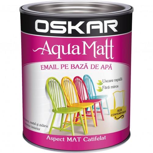 Acrilic Email Matt Aqua Alb Contemporan 2.5 L Oskar
