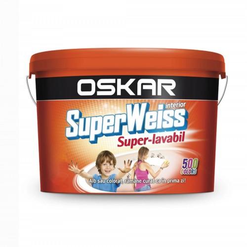 Vopsea Lavabila Alb Superweiss 2.5 L Interior Anti Mucegai Oskar