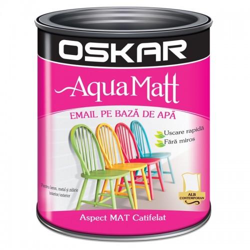 Acrilic Email Matt Aqua Alb Contemporan 0.6 L Oskar