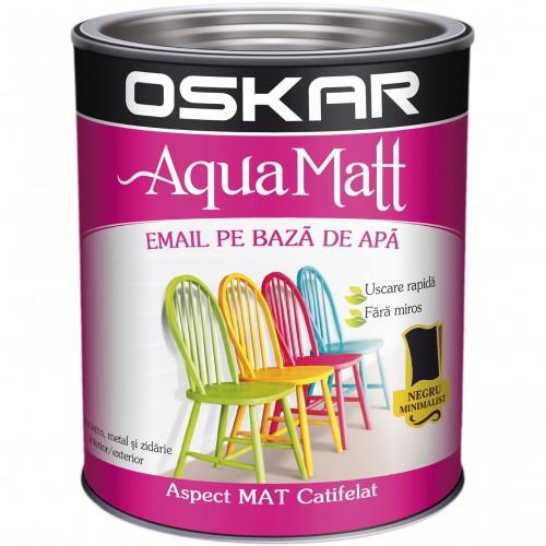 Acrilic Email Matt Aqua Negru Minimalist 0.6 L Oskar