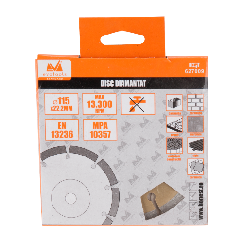 Disc Diamantat Segmentat 115mm Ets 627009 Honest