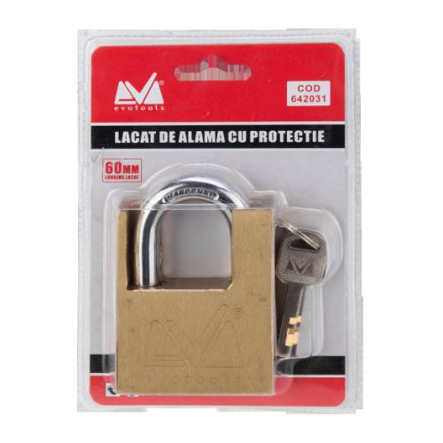 Lacat Cu Protectie 70 Mm De Alama Etp 642032 Honest