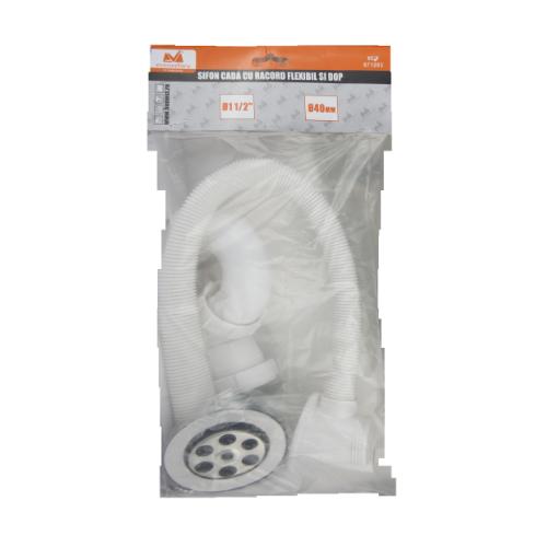 Sifon Cada Dus+ventil Si Dop Rac Flexibil Preaplin 70*40mm Ets 671203 Honest